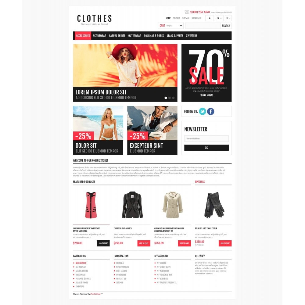 theme - Fashion & Shoes - Responsive Clothing Shop - 4