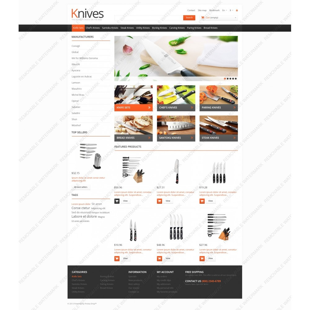 theme - Arte & Cultura - Knives for Easy Cooking - 5