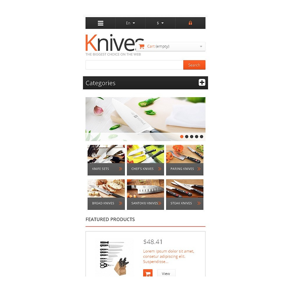 theme - Arte & Cultura - Knives for Easy Cooking - 8