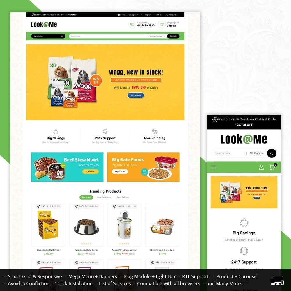 theme - Animais - Look me Pets Store - 1