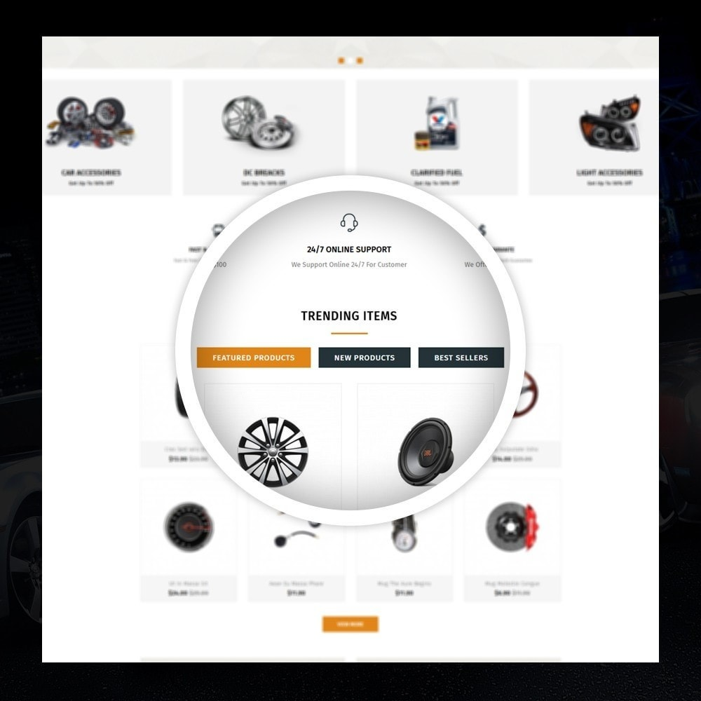 theme - Auto's & Motoren - Mighty - Autoparts Shop - 9