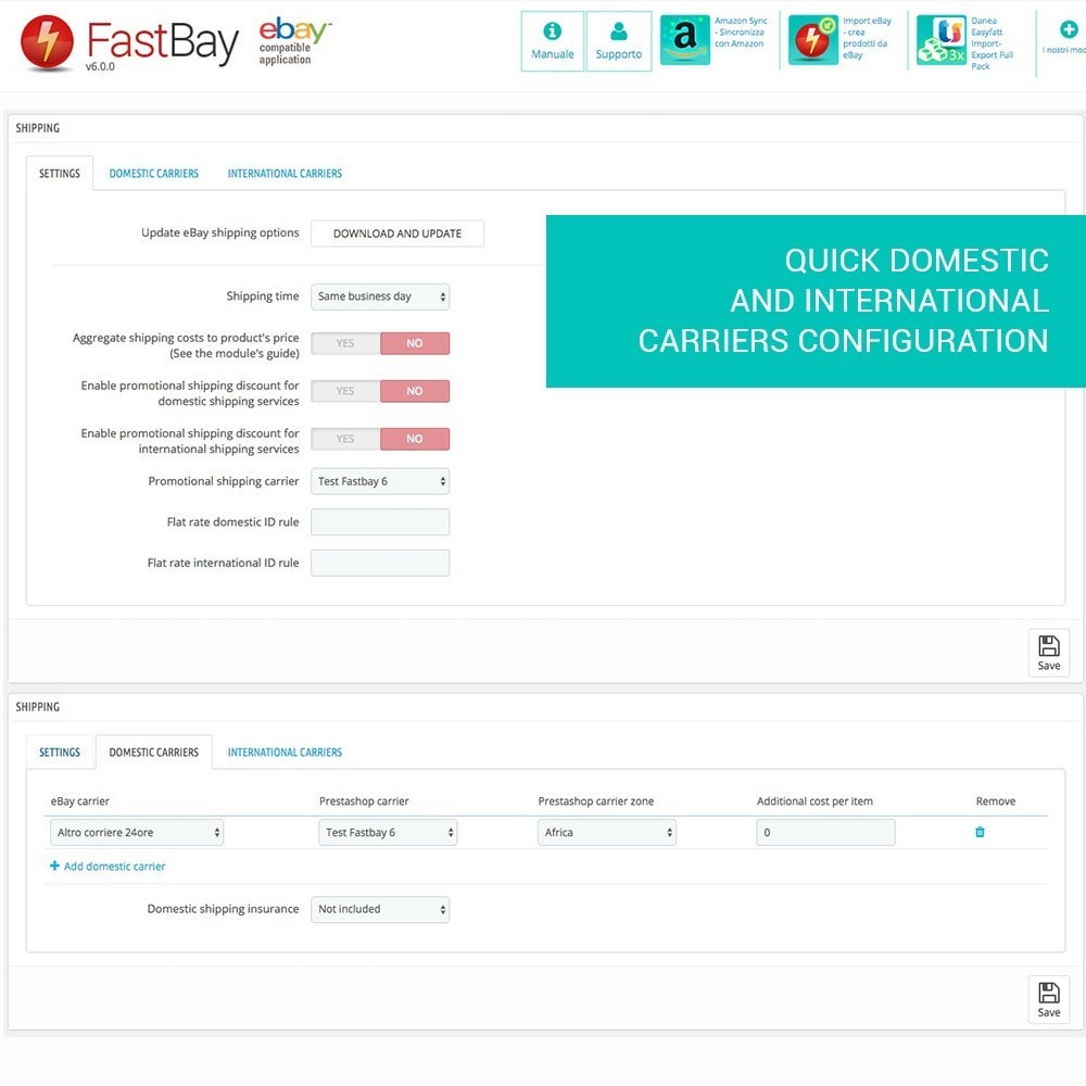 module - Marketplaces - FastBay - eBay Marketplace synchronisation - 9