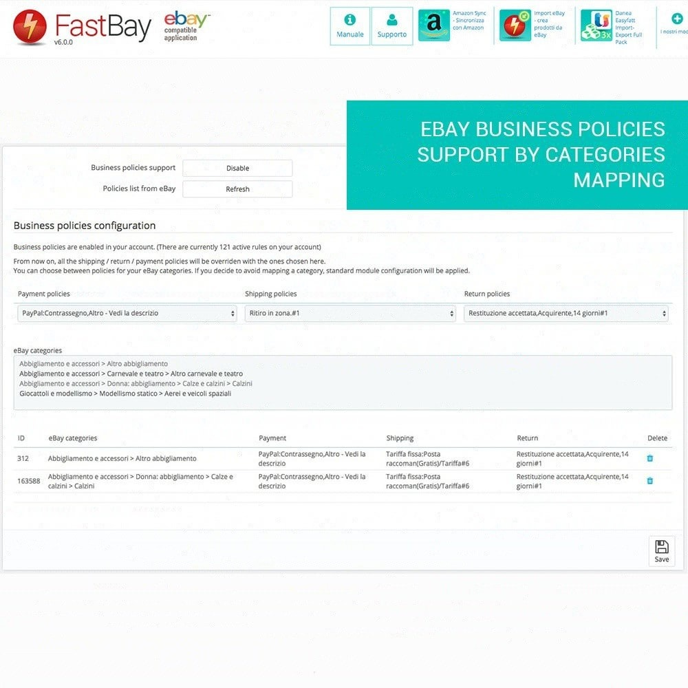 module - Marketplaces - FastBay - eBay Marketplace synchronisation - 12