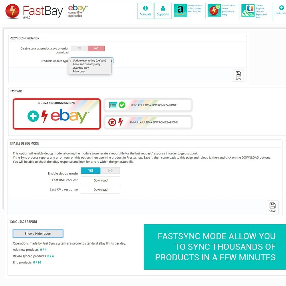 module - Revenda (marketplace) - FastBay - eBay Marketplace synchronization - 12