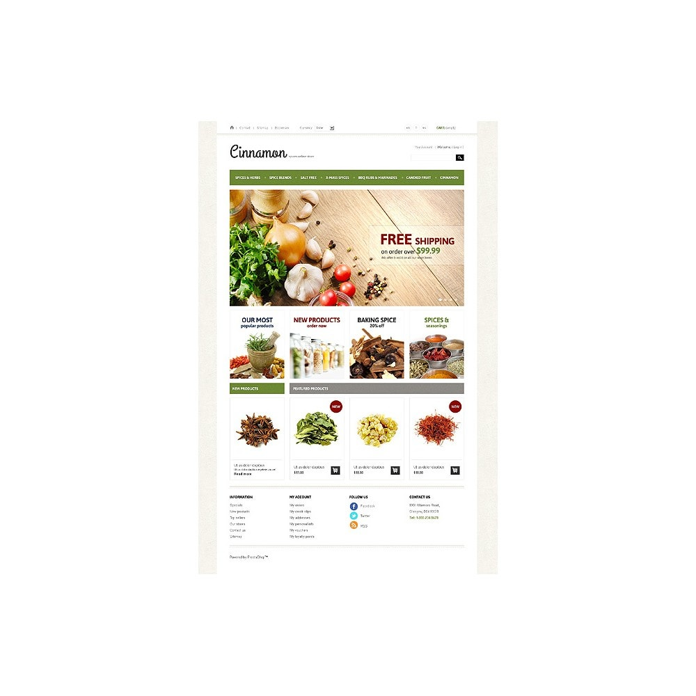 theme - Alimentation & Restauration - Spices & Herbs - 1