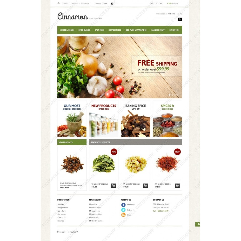 theme - Alimentation & Restauration - Spices & Herbs - 2