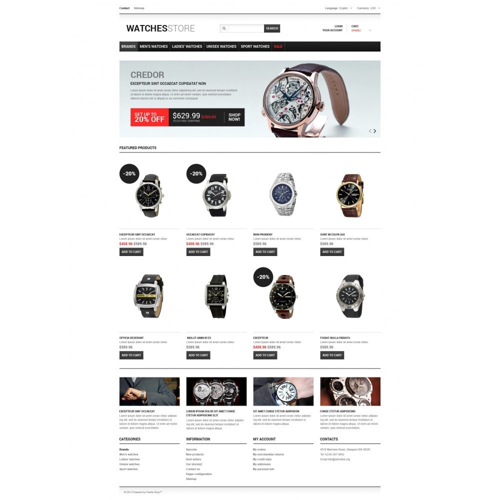 theme - Fashion & Shoes - Watches Shop - 3