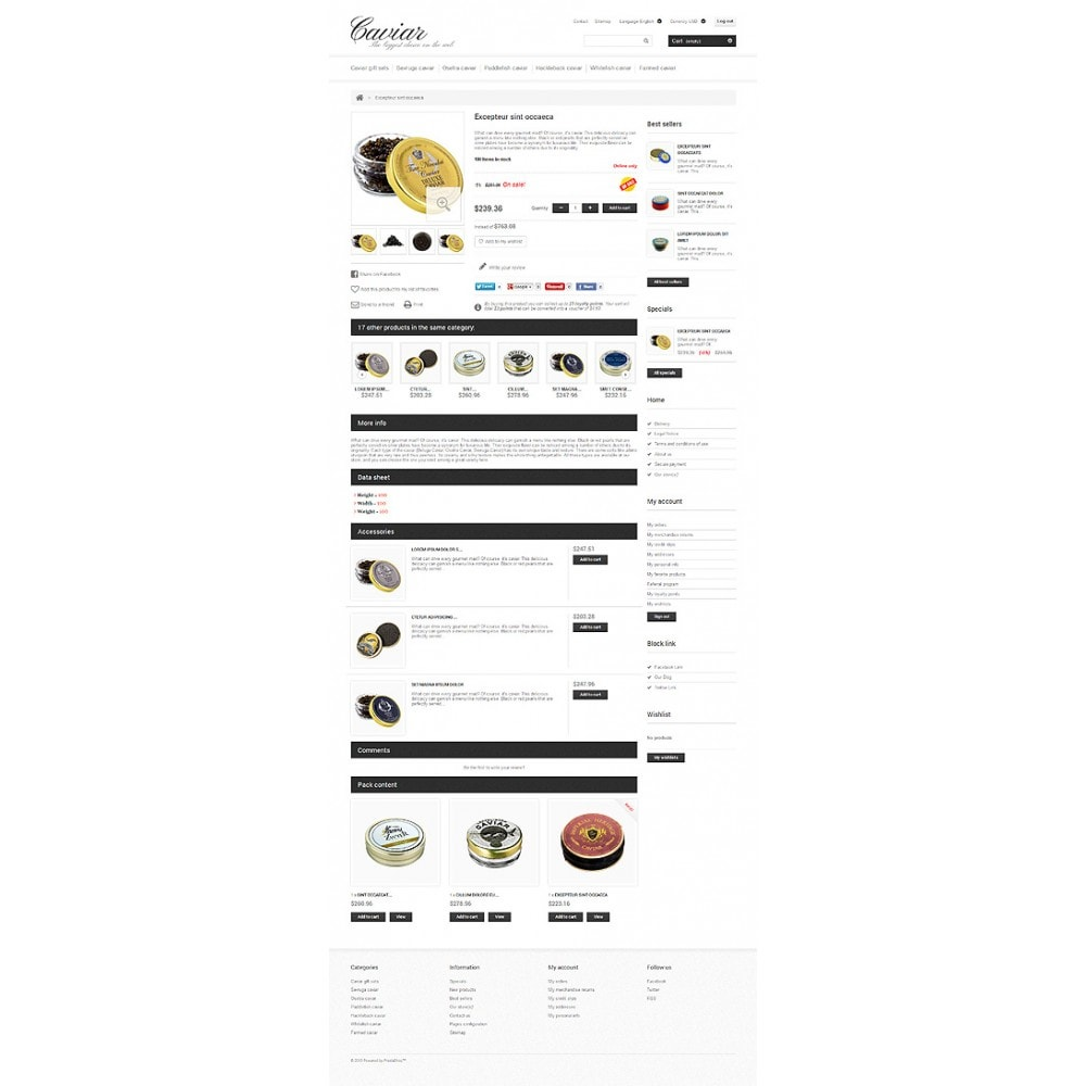 theme - Eten & Restaurant - Caviar Online Store - 6
