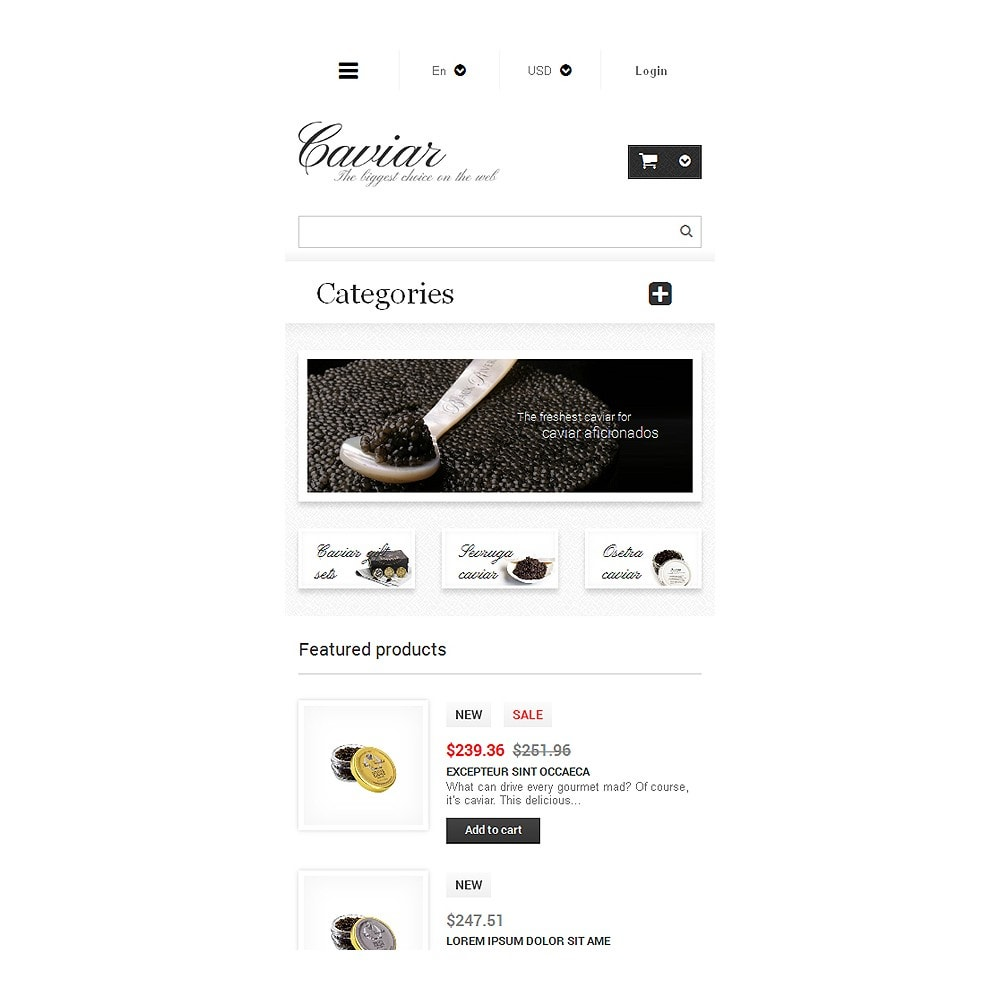 theme - Eten & Restaurant - Caviar Online Store - 8