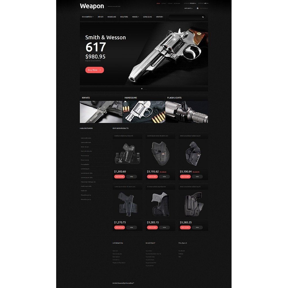 theme - Шаблоны PrestaShop - Weapons for SelfDefense - 2