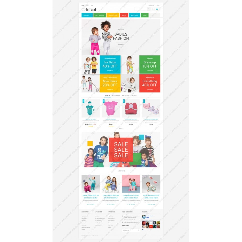 theme - Heim & Garten - Infant Clothing Store - 5