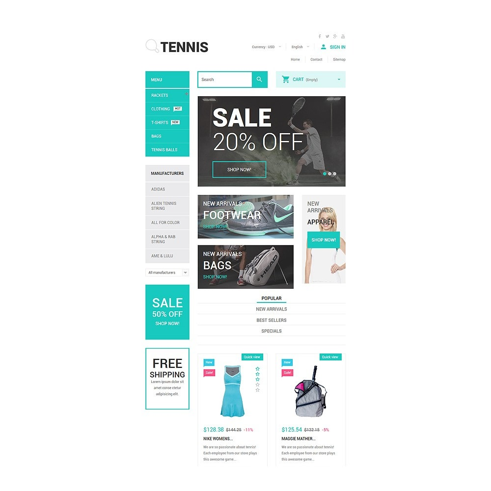 theme - Sports, Activities & Travel - Tennis Accessories Store - 7