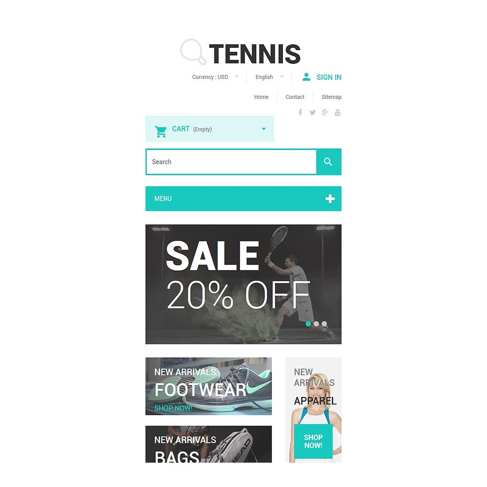 theme - Sports, Activities & Travel - Tennis Accessories Store - 8