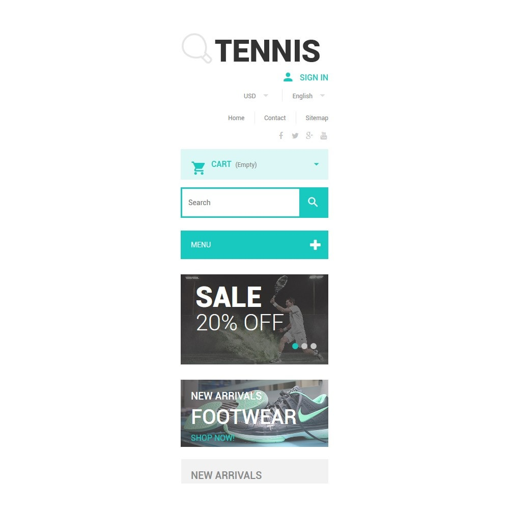 theme - Sports, Activities & Travel - Tennis Accessories Store - 9