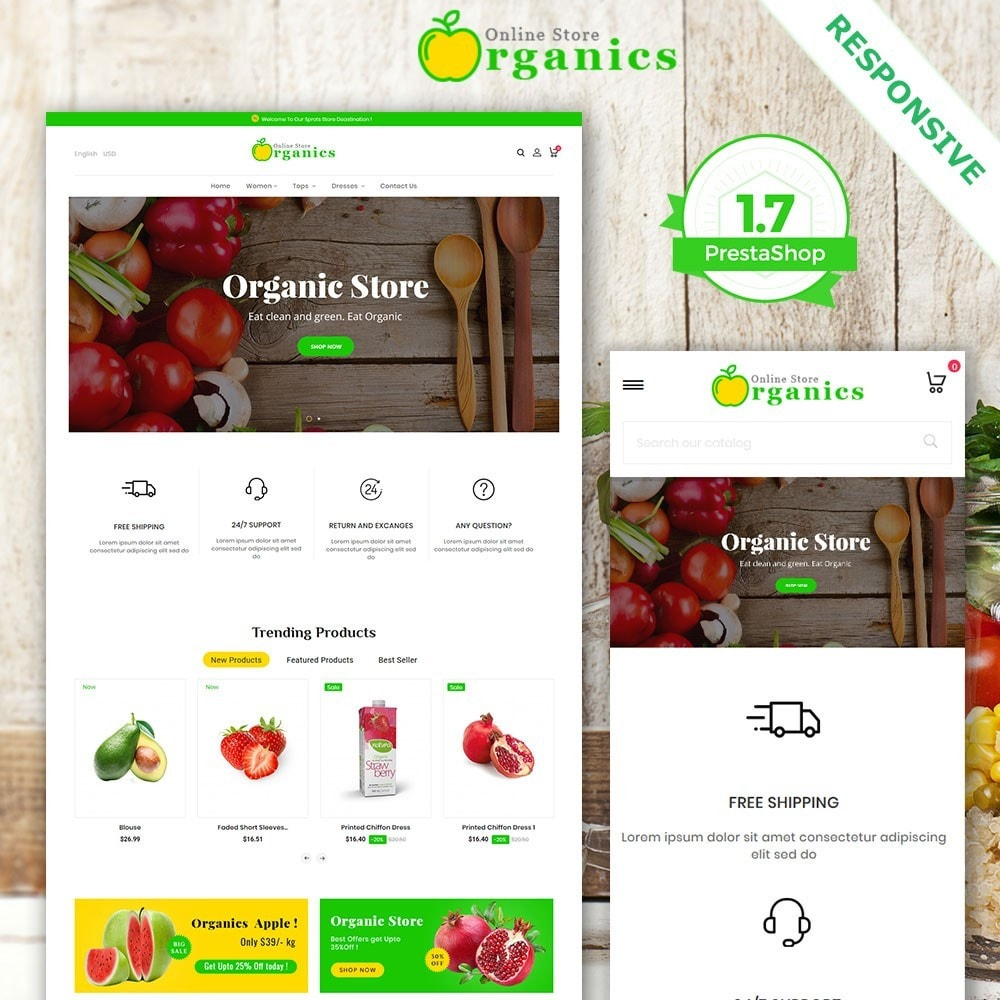 theme - Alimentation & Restauration - Organic vegetable store - 2