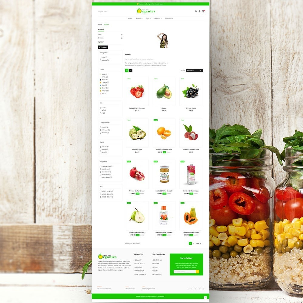 theme - Alimentation & Restauration - Organic vegetable store - 4