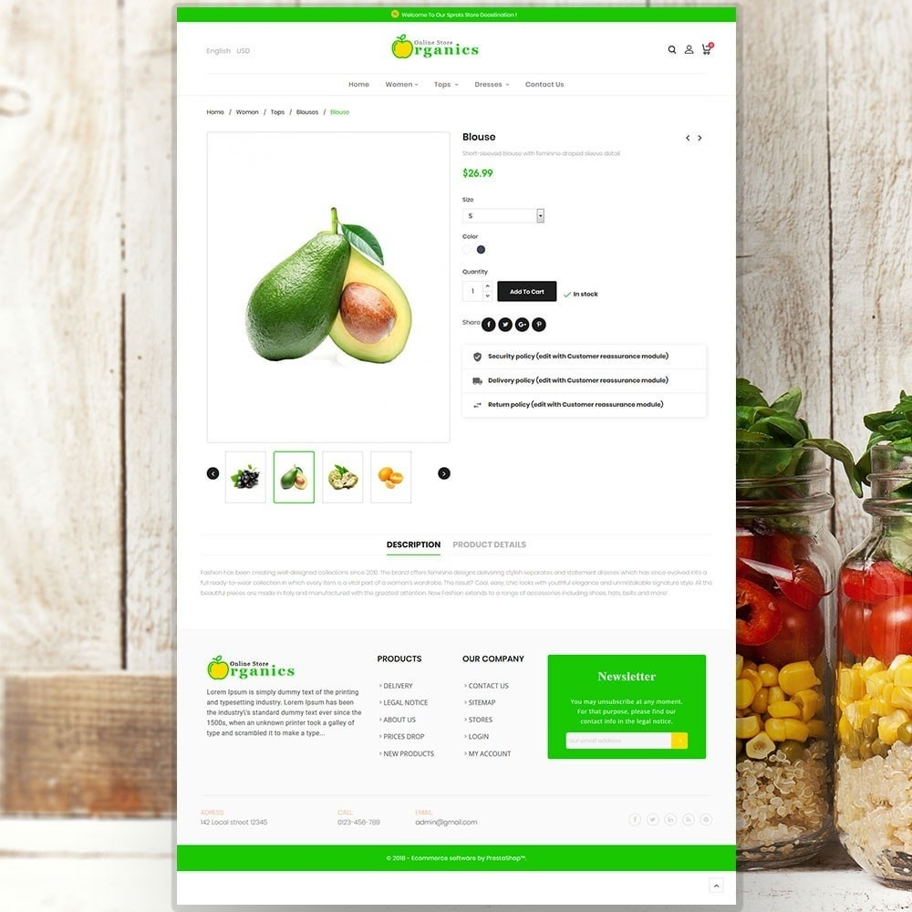 theme - Gastronomía y Restauración - Organic vegetable store - 6