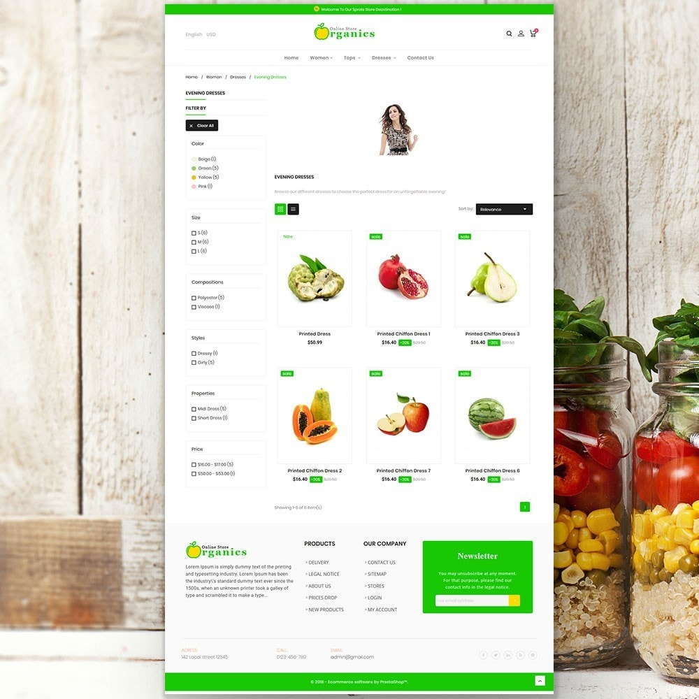 theme - Lebensmittel & Restaurants - Organic vegetable store - 5
