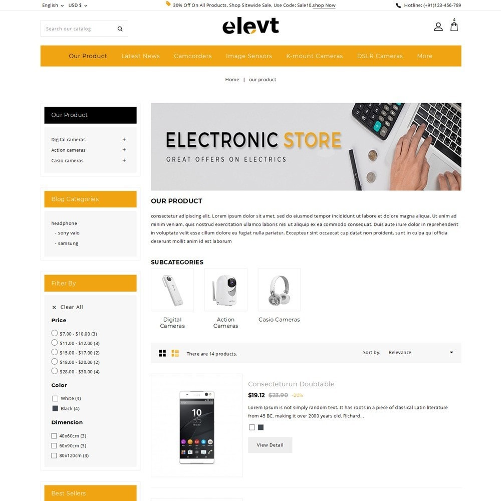 theme - Elettronica & High Tech - Elevt - The Electronic Store - 5