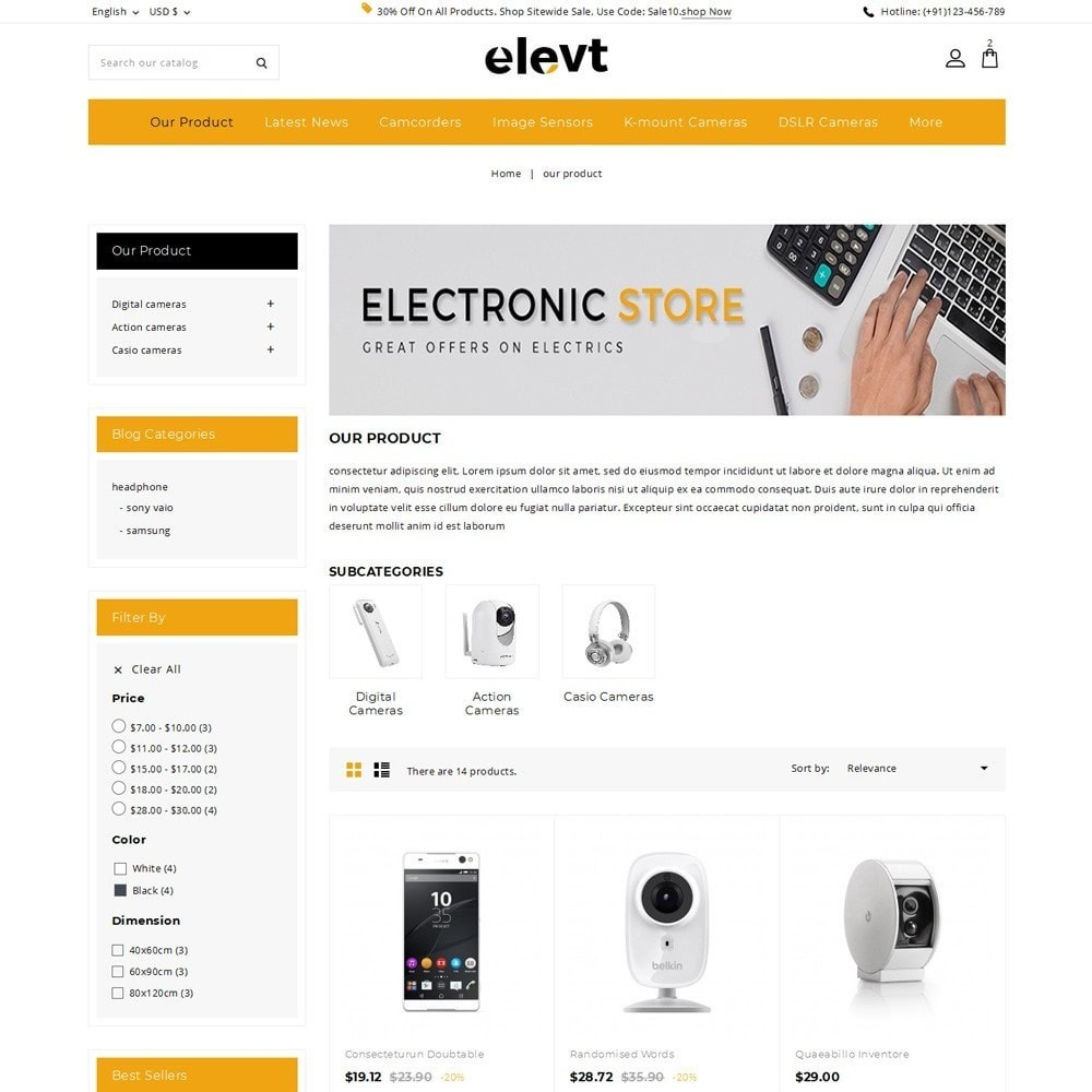 theme - Elettronica & High Tech - Elevt - The Electronic Store - 6