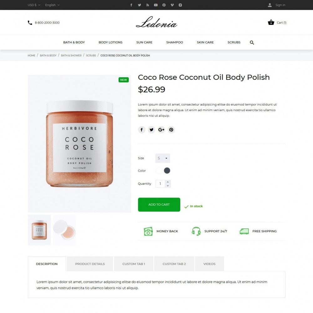 theme - Health & Beauty - Ledonia Cosmetics - 6
