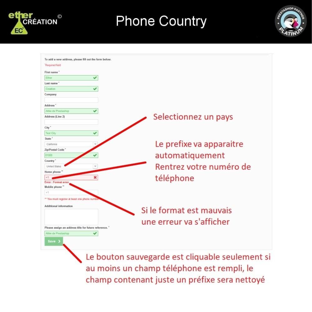 module - International & Localisation - Converti/Vérifie numéro de téléphone à l'international - 2