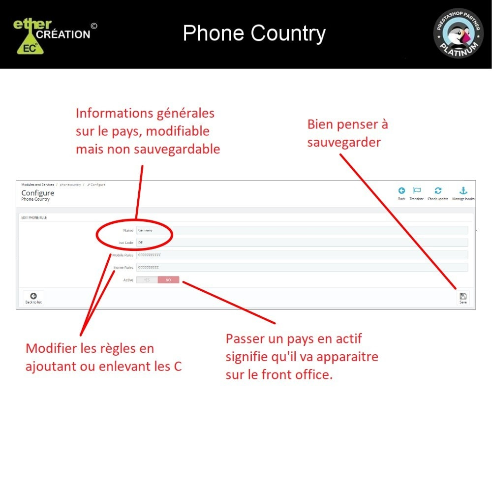 module - International & Localisation - Converti/Vérifie numéro de téléphone à l'international - 3