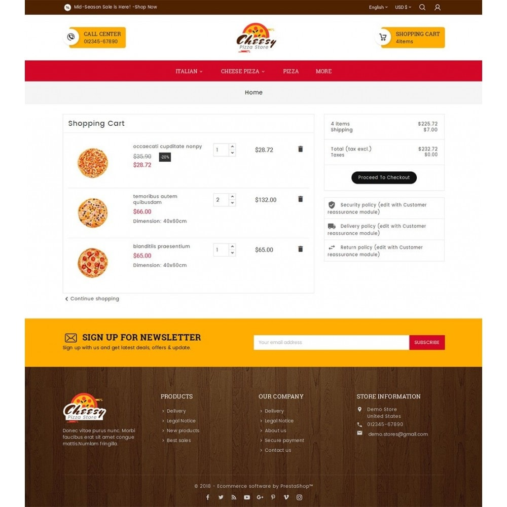 theme - Eten & Restaurant - Cheesy Pizza - Fast Food - 6