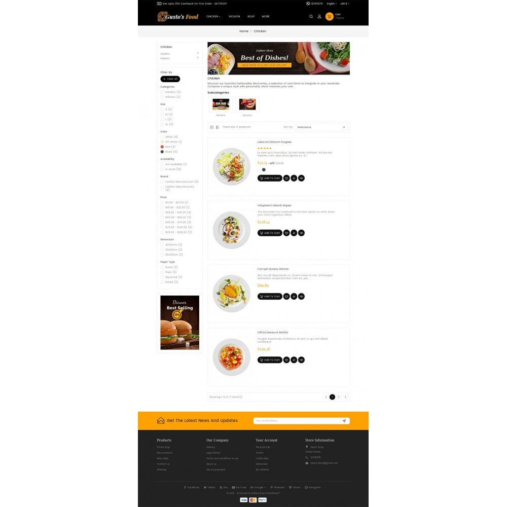 theme - Alimentation & Restauration - Gusto Restaurant Food - 4
