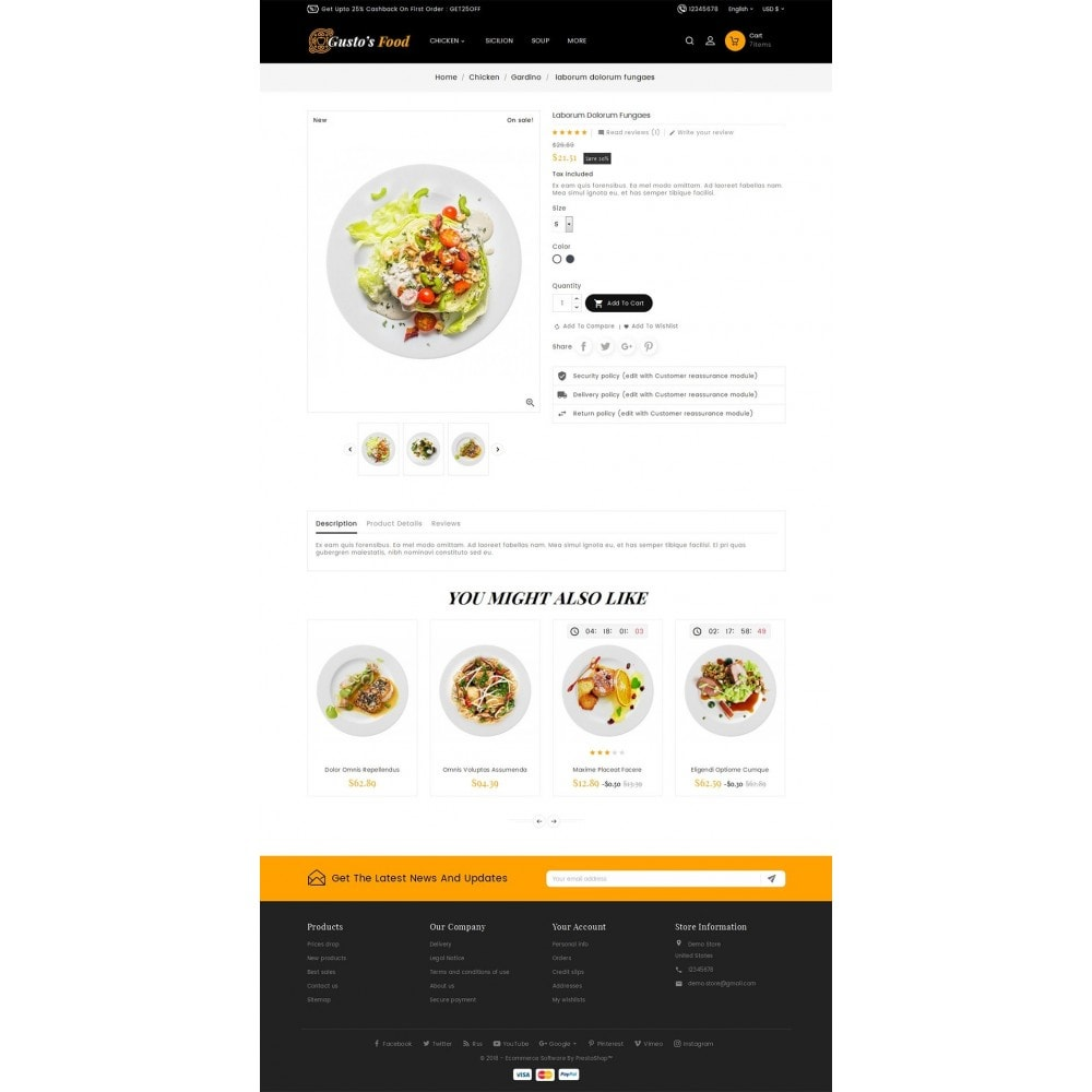 theme - Alimentation & Restauration - Gusto Restaurant Food - 5