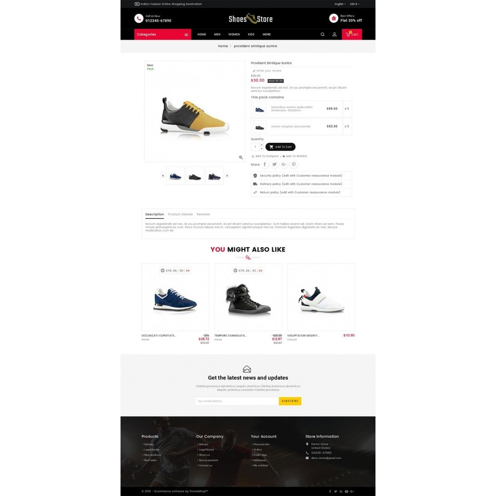 theme - Desporto, Actividades & Viagens - Sports Shoes Store - 5