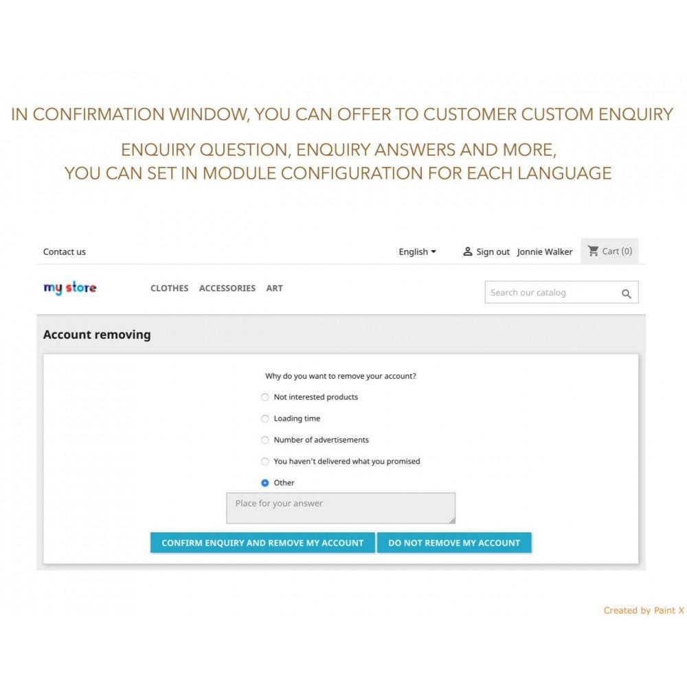 module - Wzmianki prawne - GDPR Usuwanie konta klienta z zaawansowanymi opcjami - 3