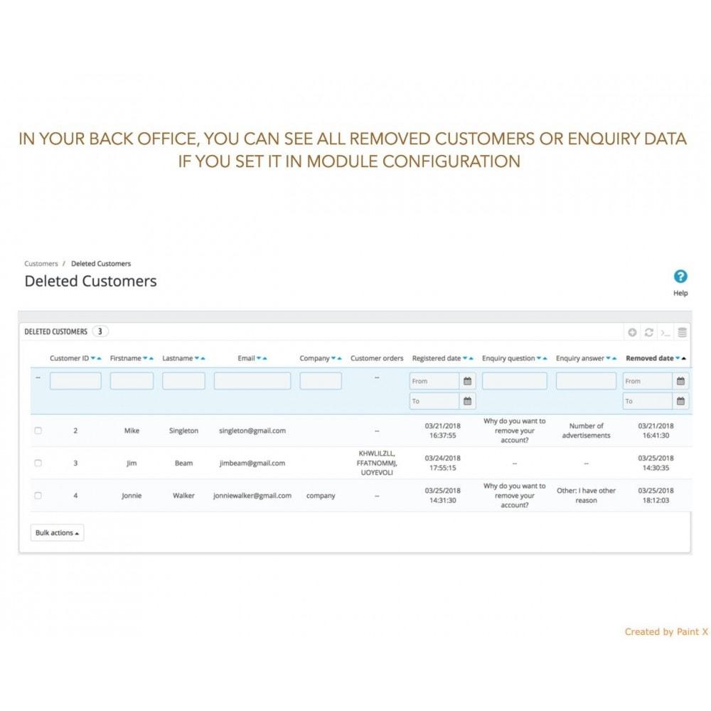 module - Wzmianki prawne - GDPR Usuwanie konta klienta z zaawansowanymi opcjami - 5
