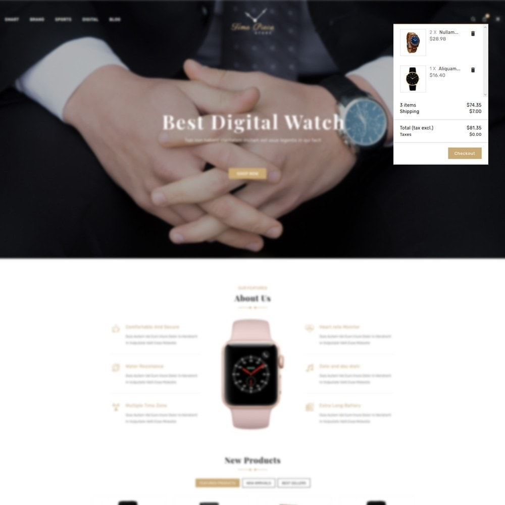 theme - Sports, Activities & Travel - Timepiece - Watch Store - 7