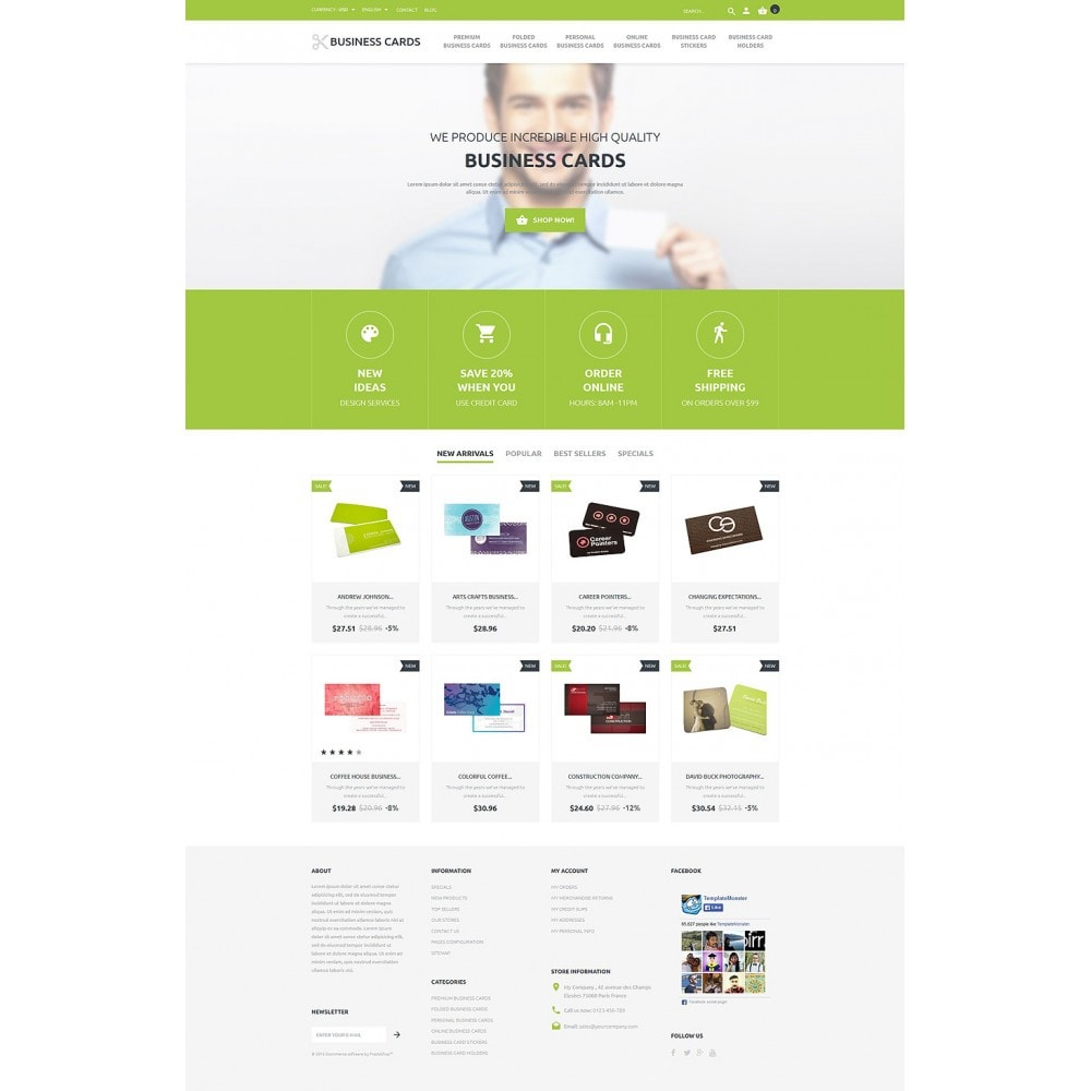 theme - PrestaShop thema's - Business Cards Store - 2