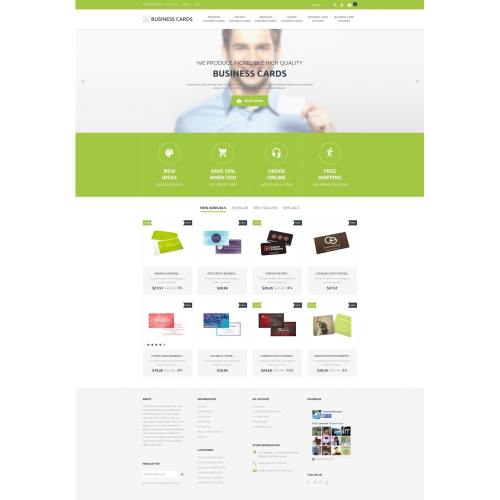 theme - Template PrestaShop - Business Cards Store - 4