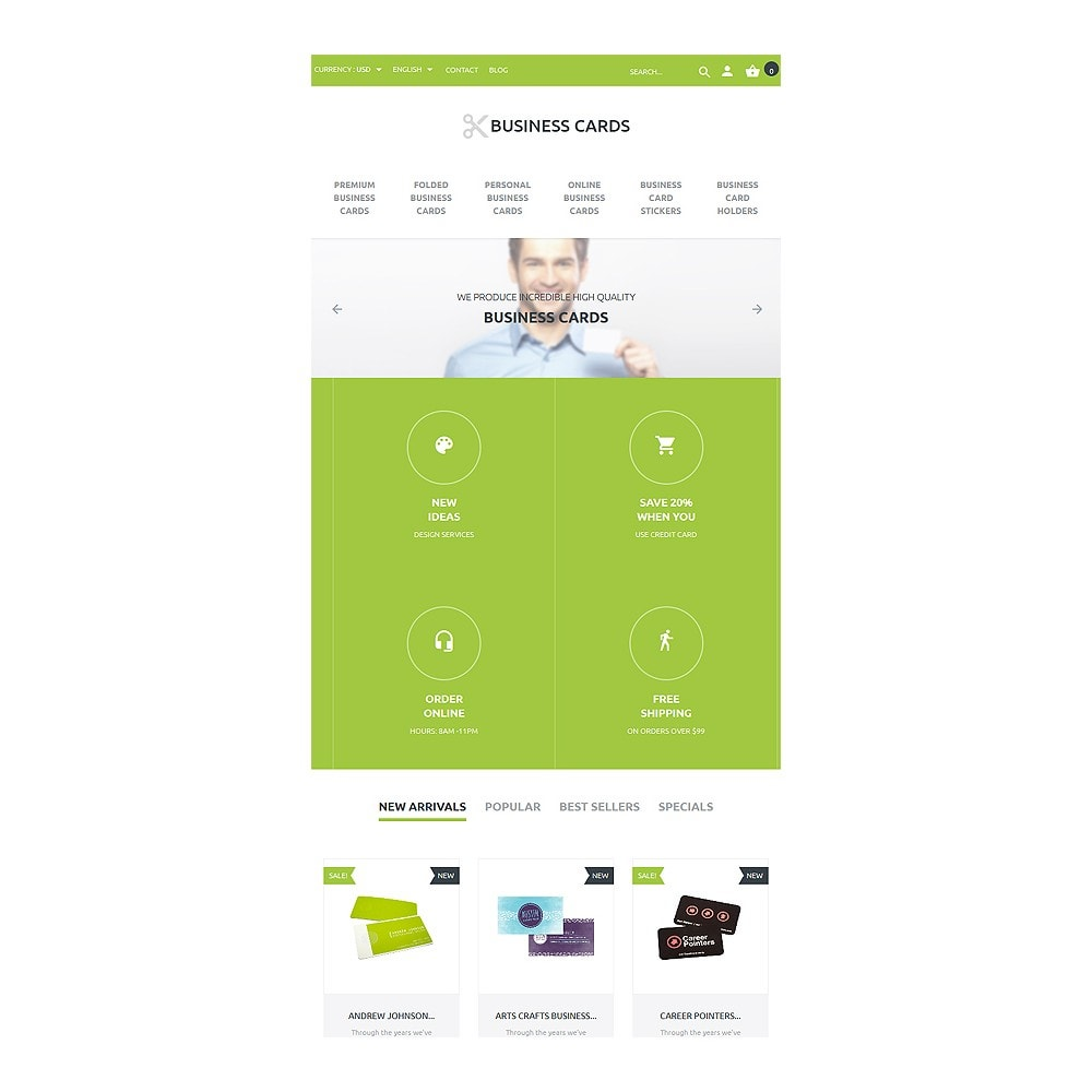 theme - PrestaShop thema's - Business Cards Store - 7