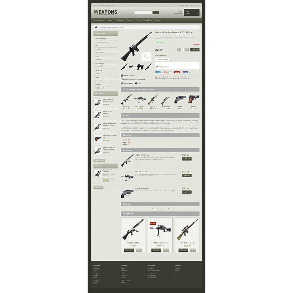 theme - Temas PrestaShop - Weapons of All Calibres - 6