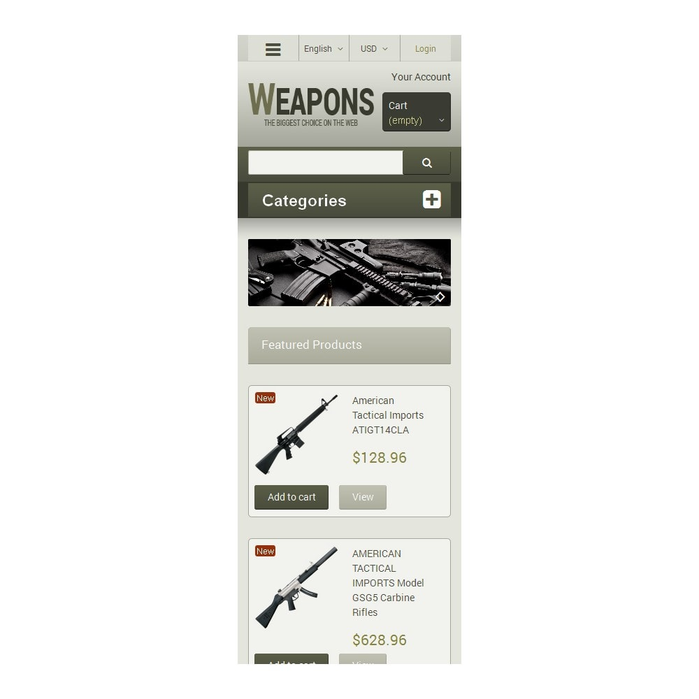 theme - Temas PrestaShop - Weapons of All Calibres - 9