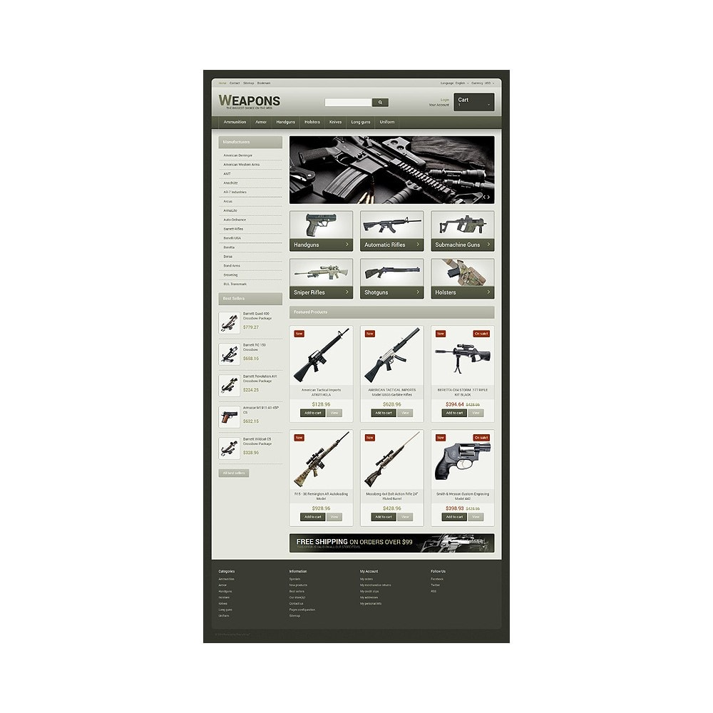 theme - Temas PrestaShop - Weapons of All Calibres - 10