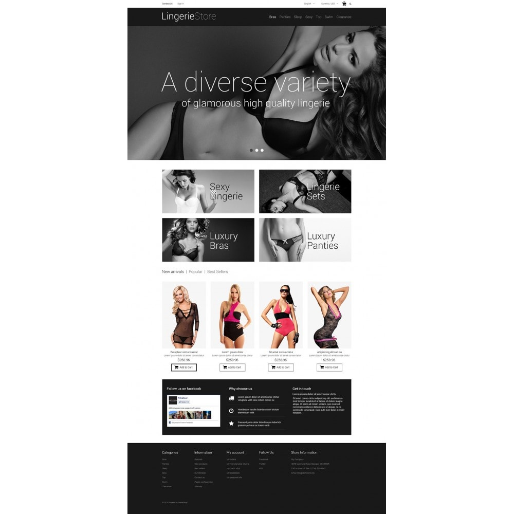 theme - Mode & Chaussures - Vente de lingerie - 2