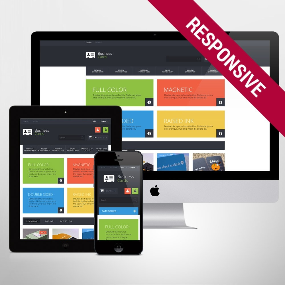 theme - PrestaShop Templates - Business Cards Store - 1