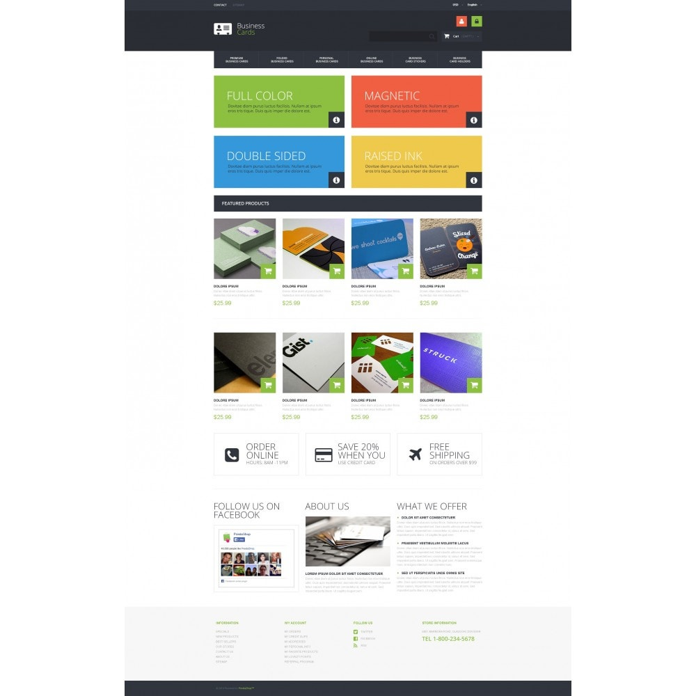 theme - PrestaShop Templates - Business Cards Store - 4