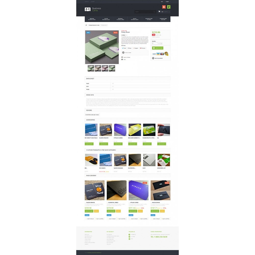 theme - PrestaShop Templates - Business Cards Store - 6