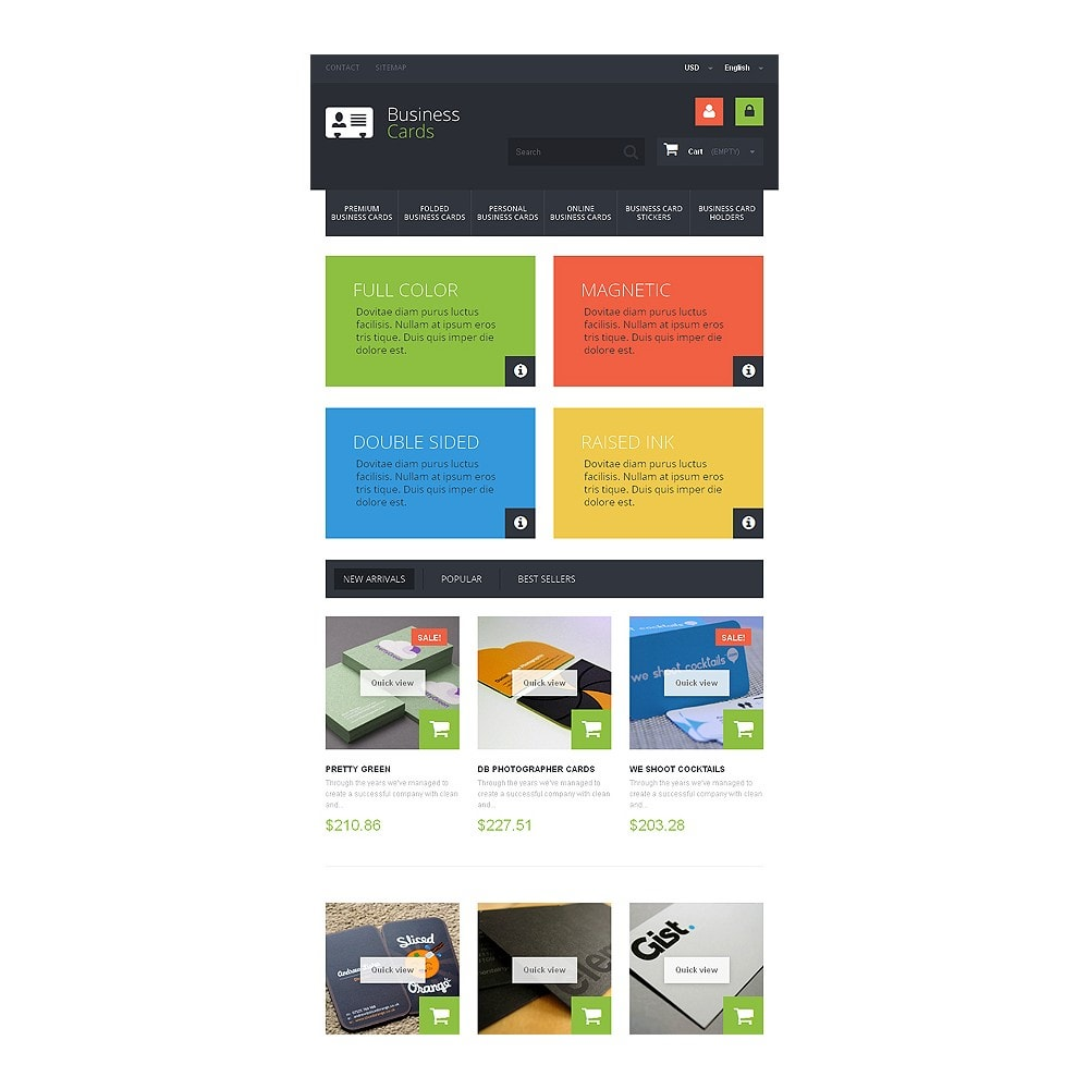theme - PrestaShop Templates - Business Cards Store - 7