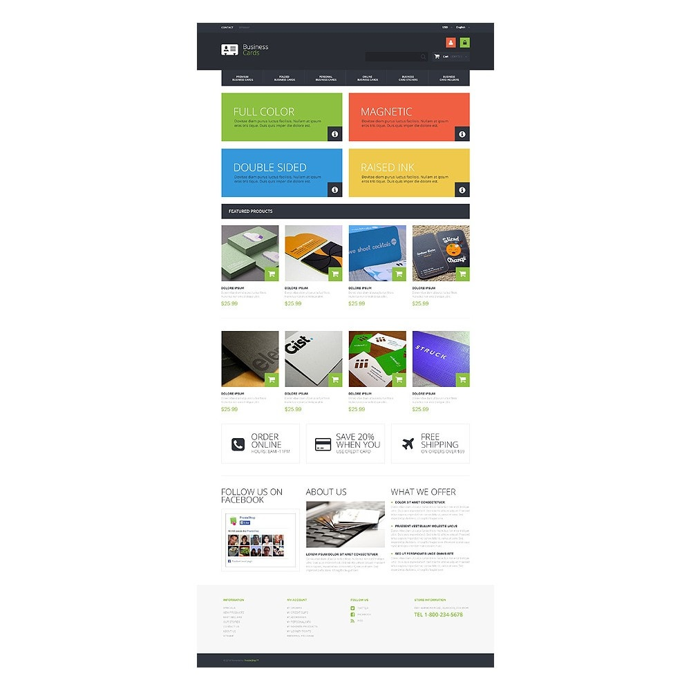 theme - PrestaShop Templates - Business Cards Store - 10