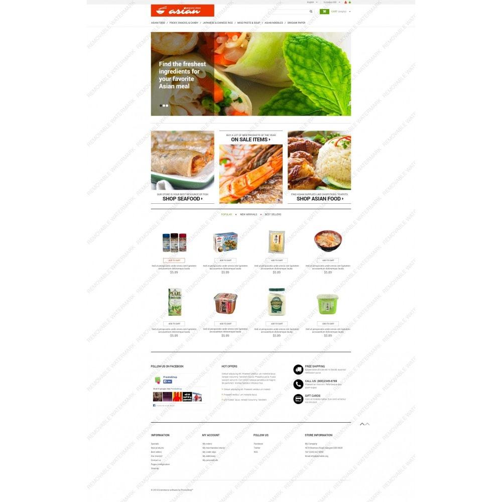 theme - Alimentos & Restaurantes - Asian Grocery - 5