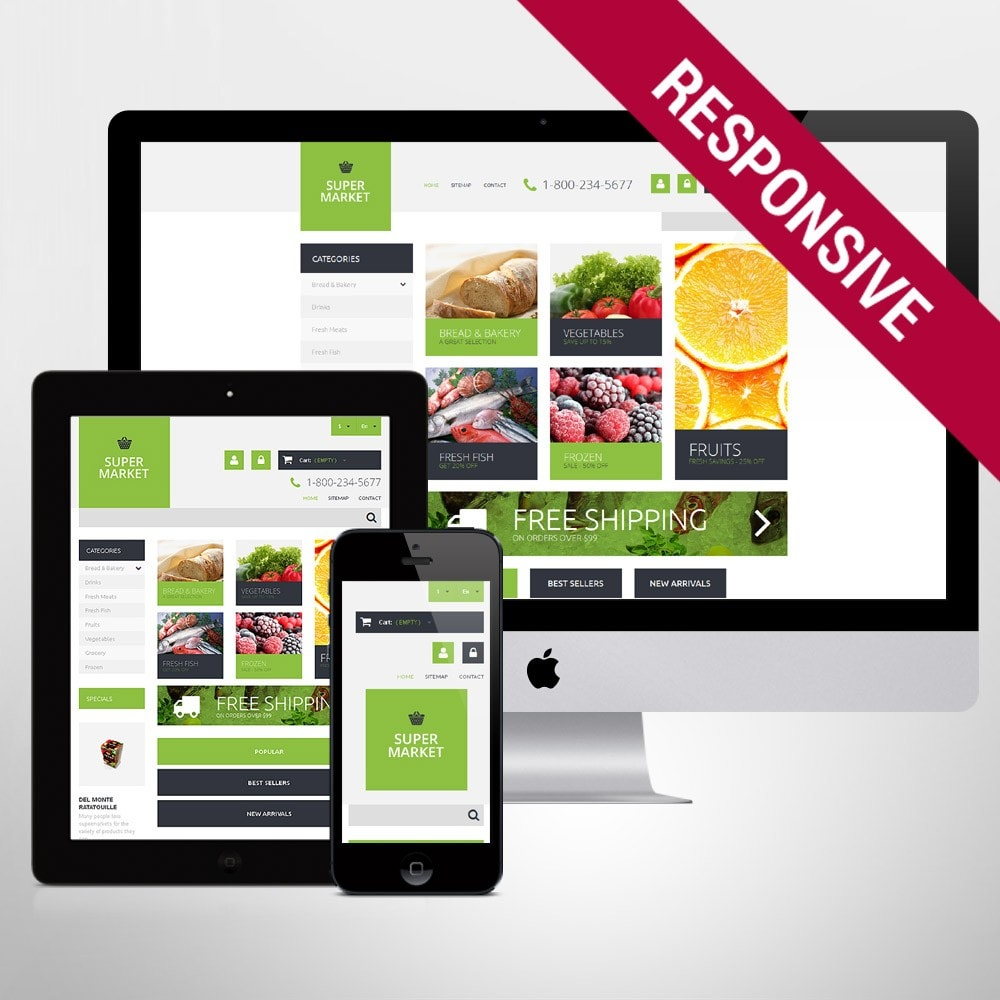 theme - Eten & Restaurant - Supermarket Template - 1