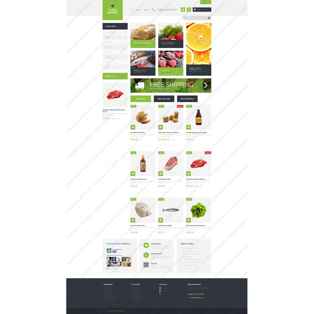 theme - Eten & Restaurant - Supermarket Template - 5