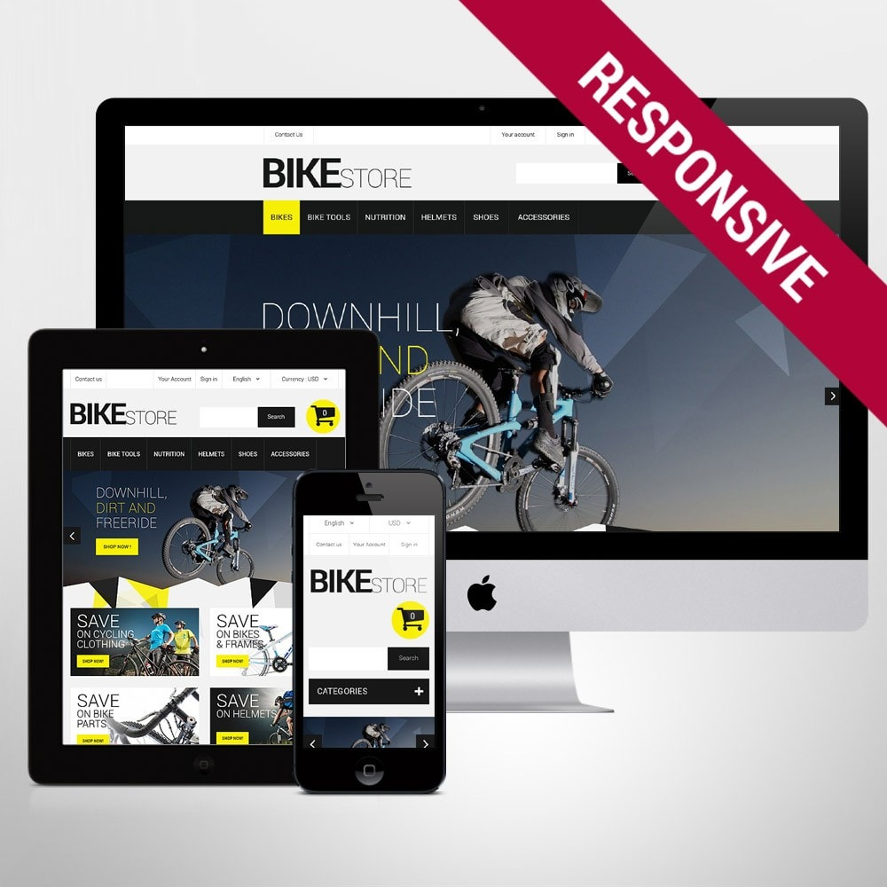 theme - Sport, Rozrywka & Podróże - Bike Store - 1